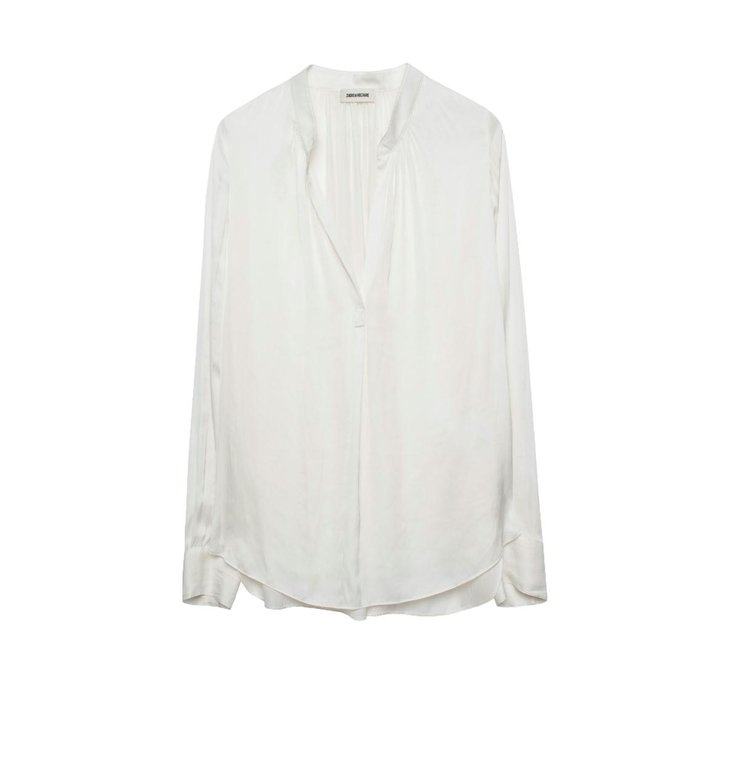Zadig & Voltaire Zadig & Voltaire White Blouse Tink Satin Tunic