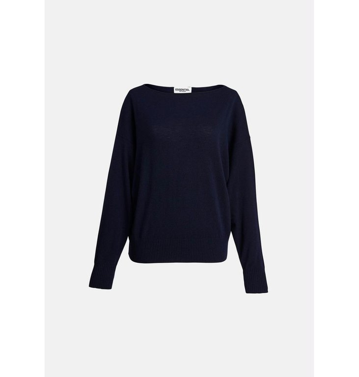 Essentiel Antwerp Essentiel Antwerp Navy Large Sleeve Pullover Zaig