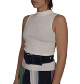 Essentiel Antwerp Off White Ribbed Fitted top Zaris
