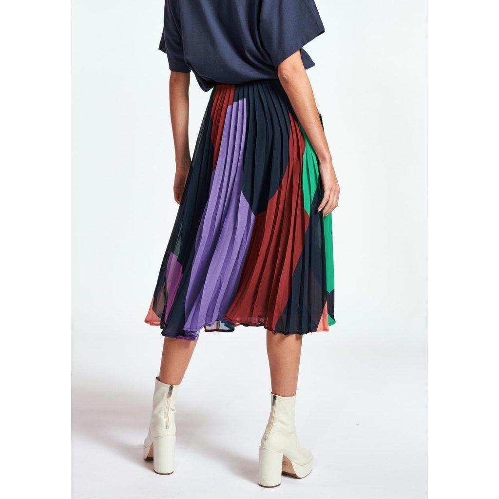 Essentiel Antwerp Multicolour Pleated Skirt Zalerie