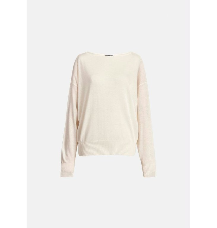 Essentiel Antwerp Essentiel Antwerp Off White Large Sleeve Pullover Zaig