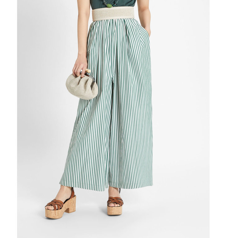 Max Mara Weekend Max Mara Weekend White/Green Pants Stemma