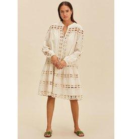 Devotion Luxor Devotion Luxor Natural Short Dress with Lace 021315G