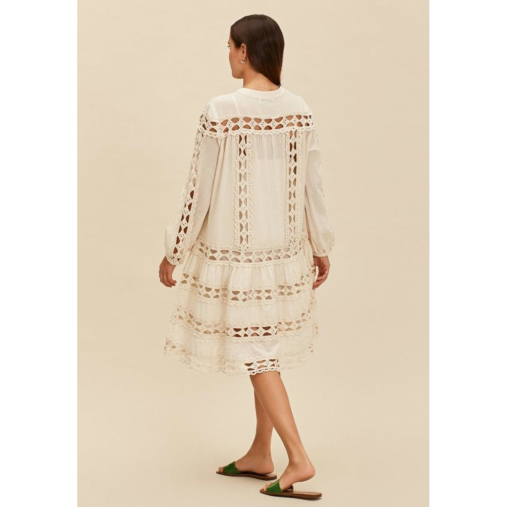 Devotion Luxor Natural Short Dress with Lace 021315G