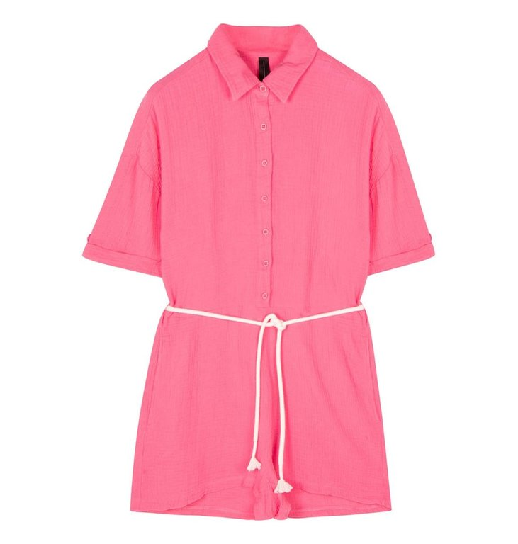 10Days 10Days Pink short jumpsuit crinkle 20-088-1201
