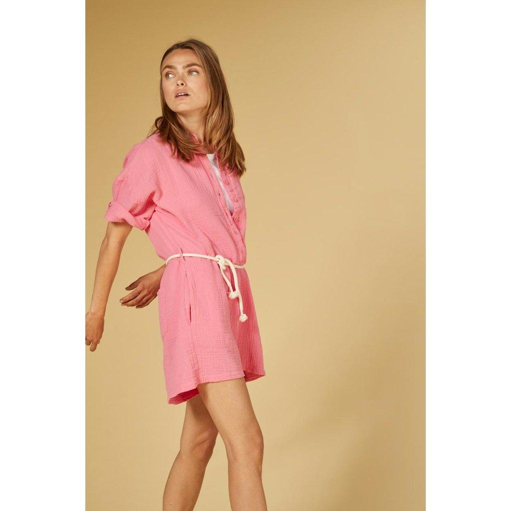 10Days Pink short jumpsuit crinkle 20-088-1201