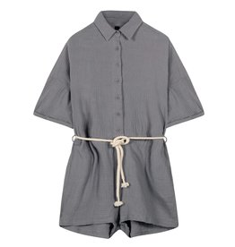 10Days 10Days Grey short jumpsuit crinkle 20-088-1201