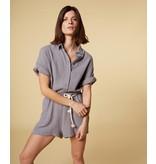 10Days Grey short jumpsuit crinkle 20-088-1201