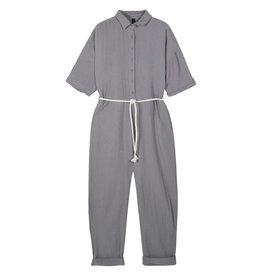 10Days 10Days Grey jumpsuit crinkle 20-087-1201