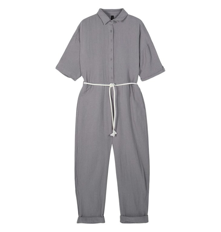 10Days 10Days Grey jumpsuit crinkle 20-087-1201