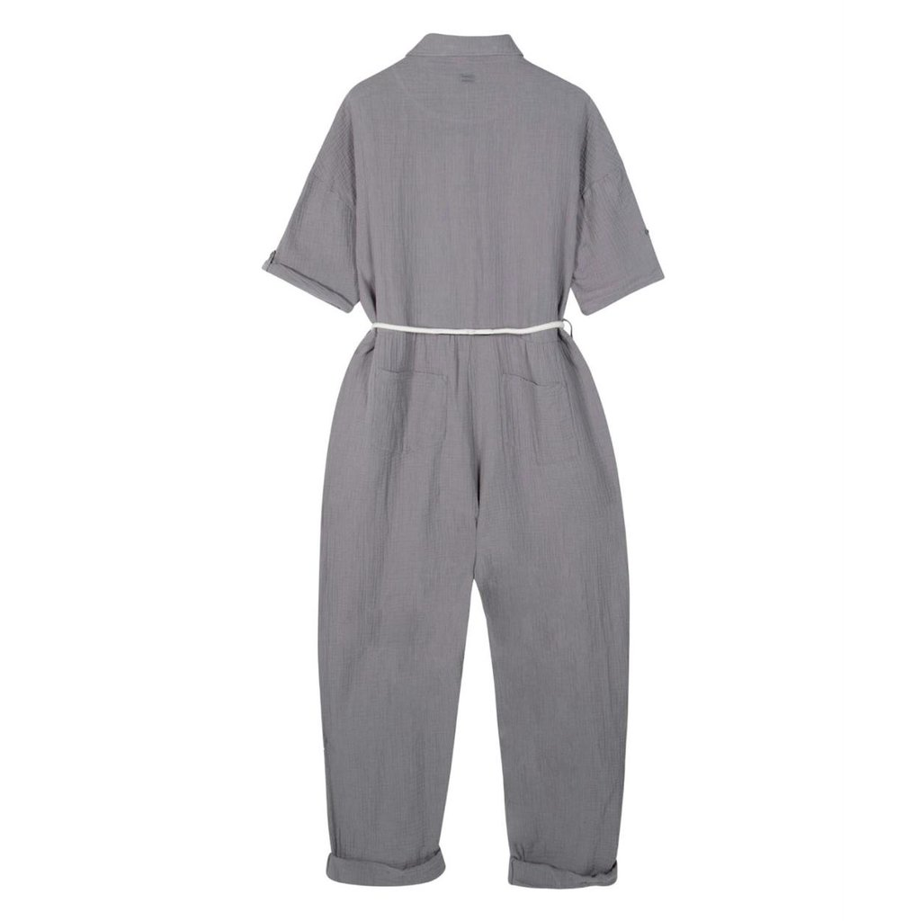 10Days Grey jumpsuit crinkle 20-087-1201