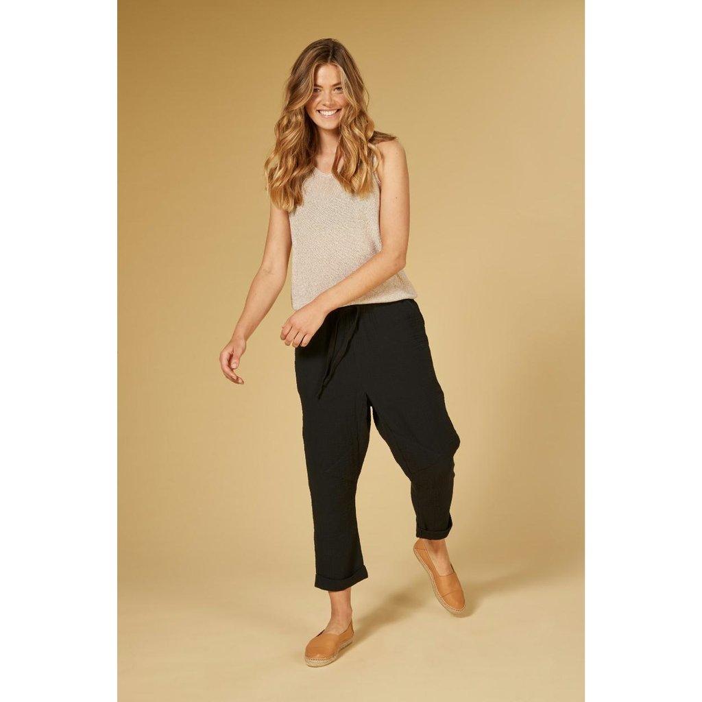 10Days Black pants crinkle 20-047-1201