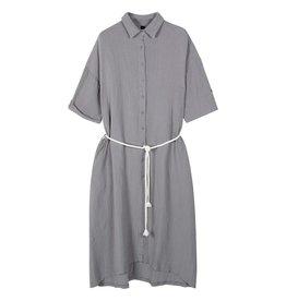 10Days 10Days Grey dress crinkle 20-337-1201