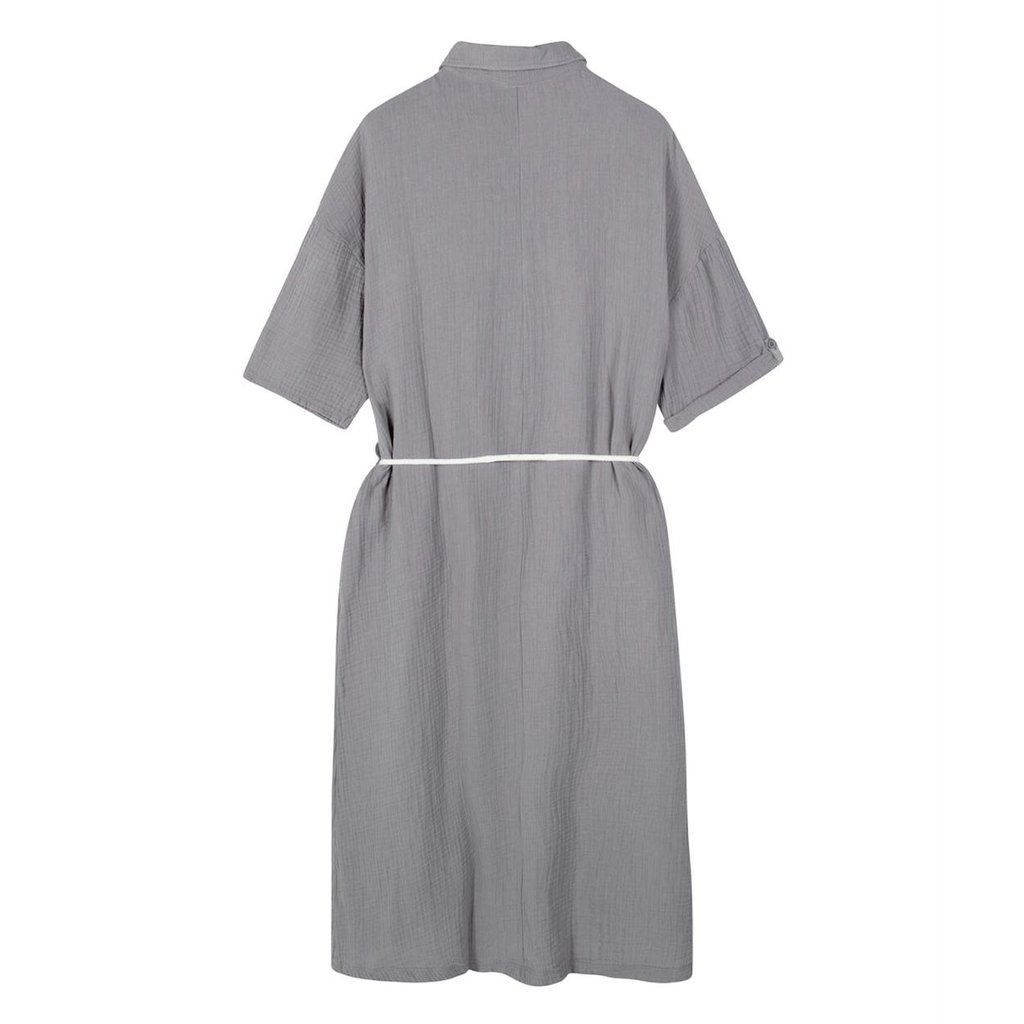 10Days Grey dress crinkle 20-337-1201