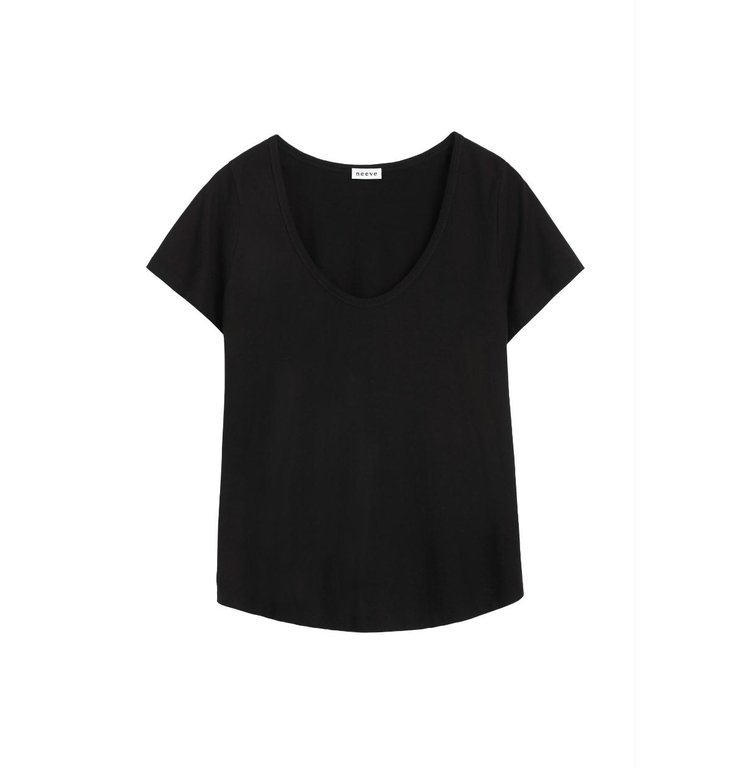Neeve Neeve Black Organic Shirt The U neck
