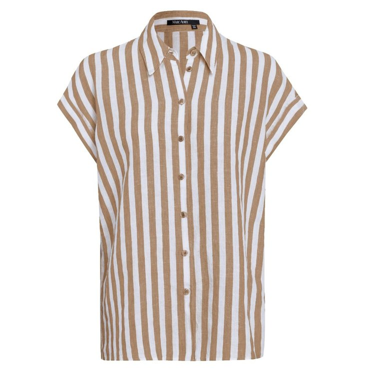 Marc Aurel Marc Aurel Sand Blouse Stripe 6331-1002-92992