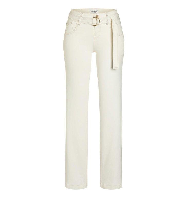 Cambio Cambio Ecru Tess Wide Leg Jeans 9058-0014-00