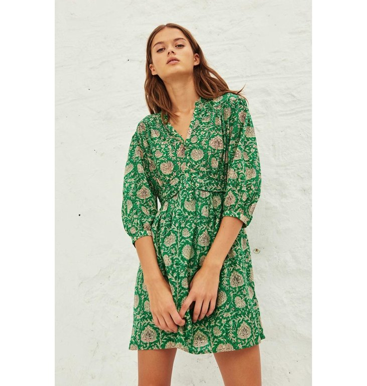 Ba&sh Ba&sh Green Dress Paz