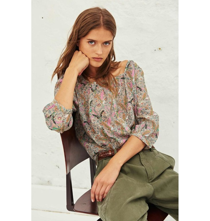 Ba&sh Ba&sh Ecru Blouse Jerry Top