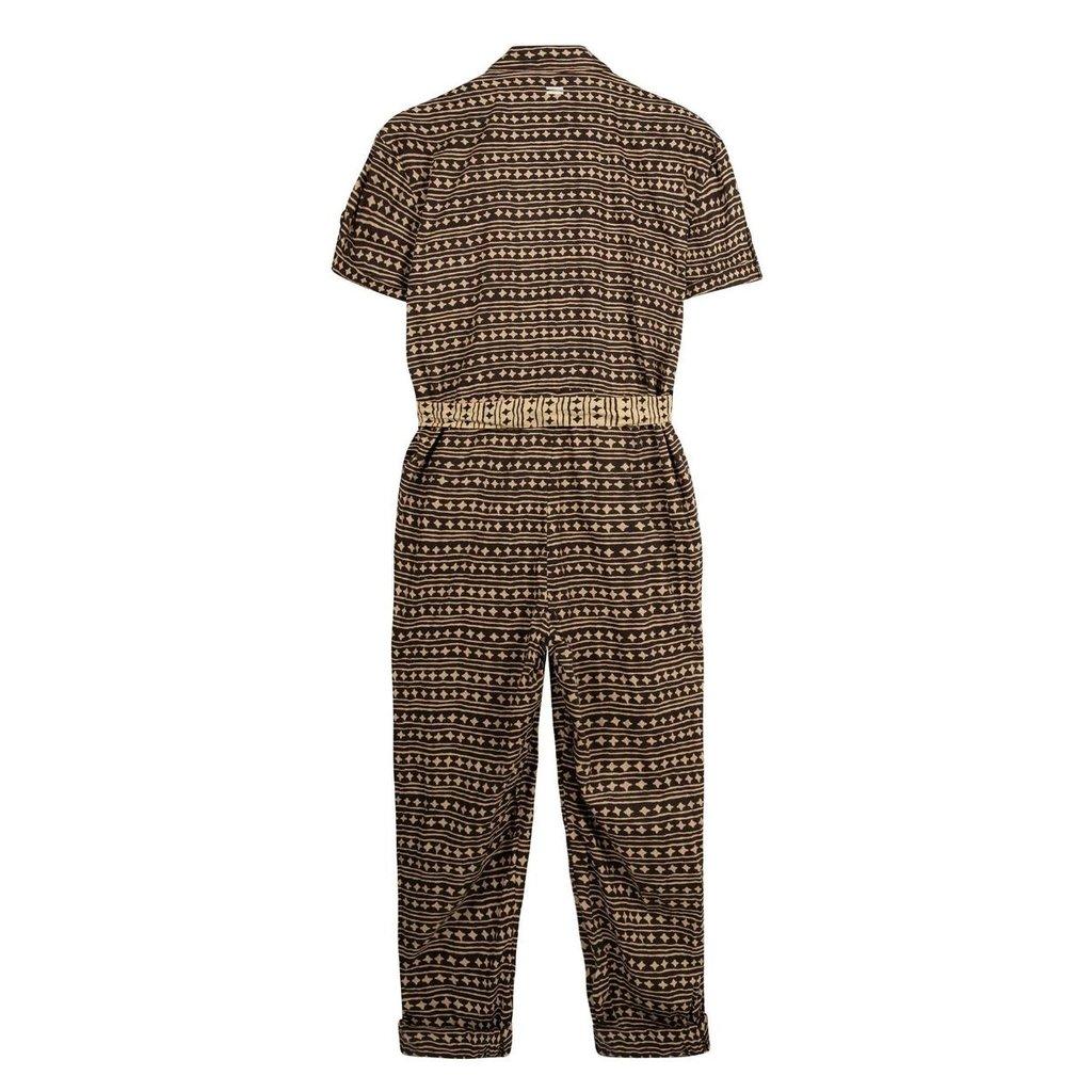10Days Soft Black beach jumpsuit stars 20-081-1202