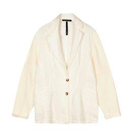 10Days 10Days Ecru loose fit blazer linen 20-504-1202