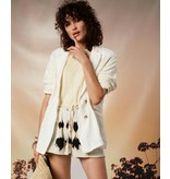 10Days Ecru loose fit blazer linen 20-504-1202