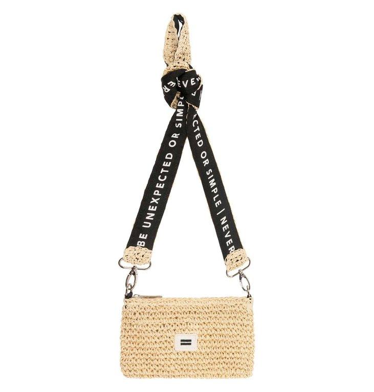 10Days 10Days Beige mini pouch straw 20-963-1202