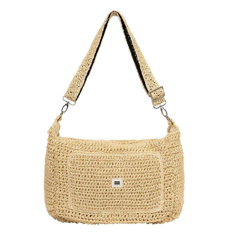 10Days 10Days Beige small weekend bag straw 20-964-1202