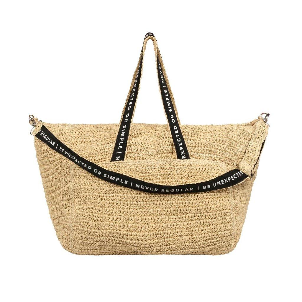 10Days Beige weekend bag straw 20-965-1202