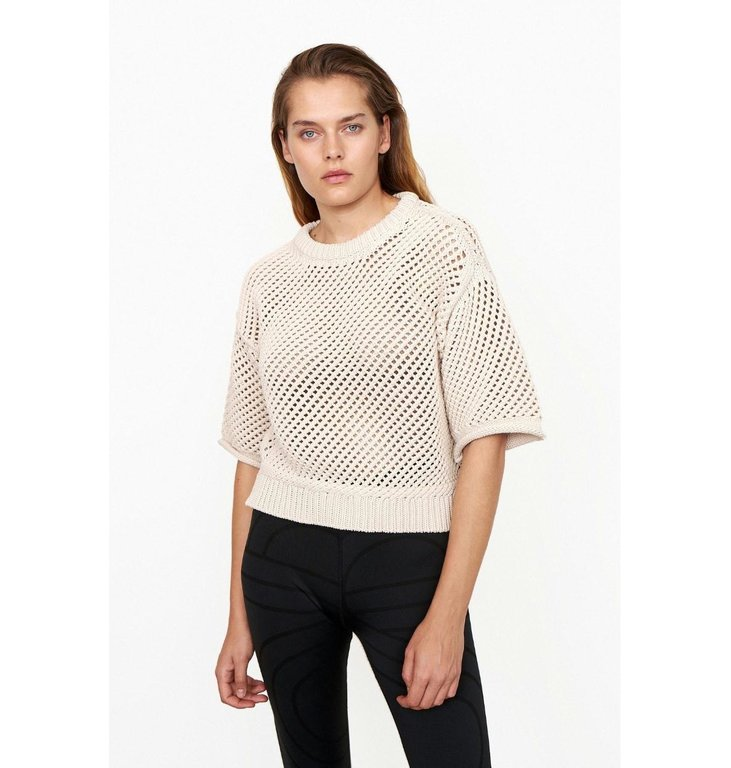 Second Female Second Female Off White Domino Knit 54535