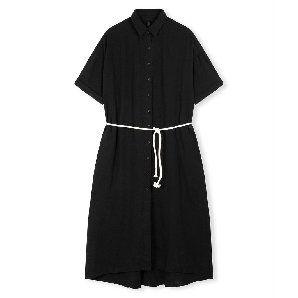 10Days Black dress crinkle 20-337-1201
