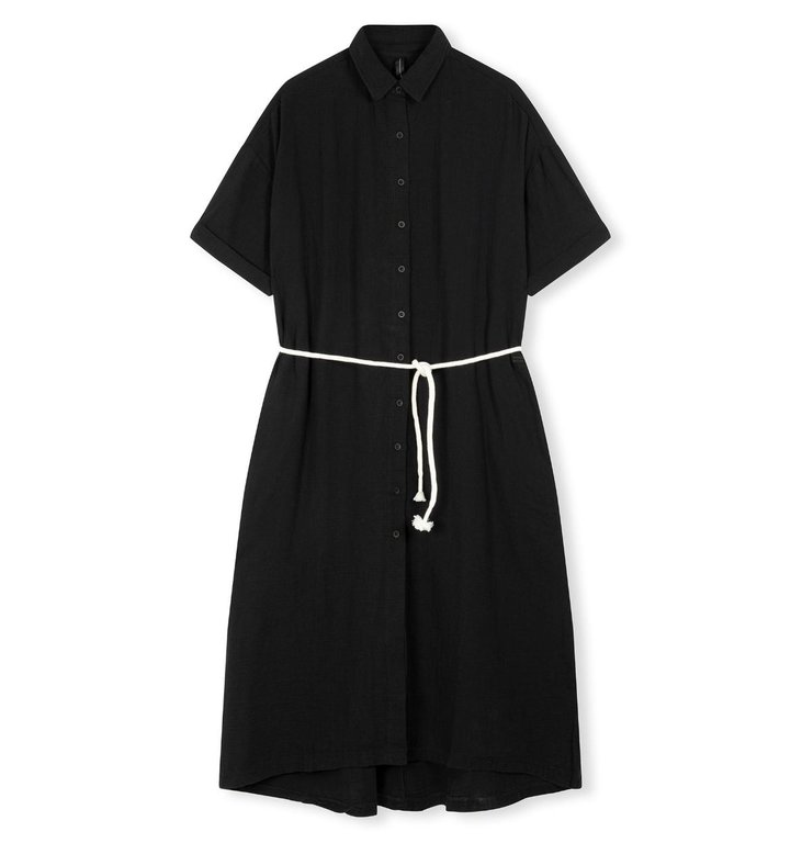 10Days 10Days Black dress crinkle 20-337-1201