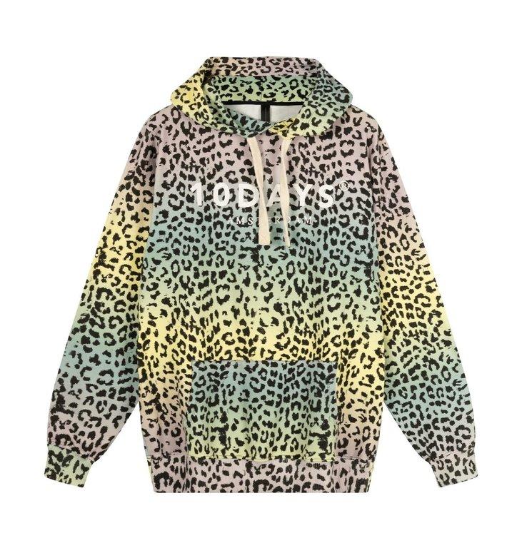 10Days 10Days Pistache Hoodie Leopard Sunset 20-806-1202