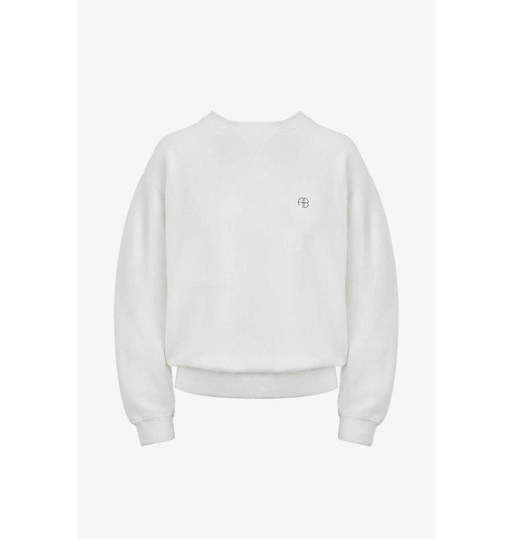 Anine Bing Anine Bing White Ramona Sweatshirt A-08-5055-149B
