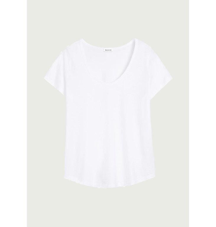 Neeve Neeve Crispy white T-shirt The U-neck