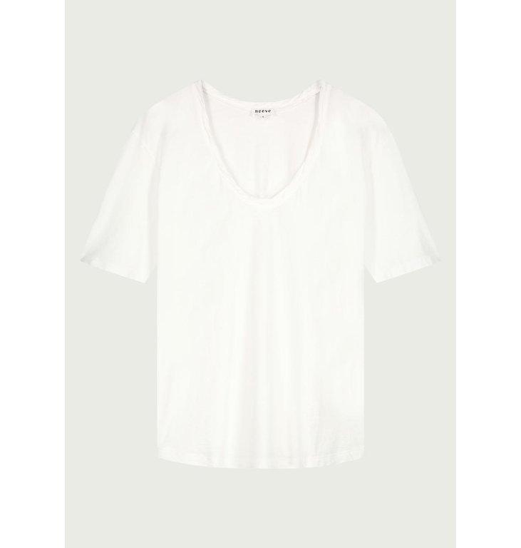 Neeve Neeve Crispy white T-shirt The Box V-neck