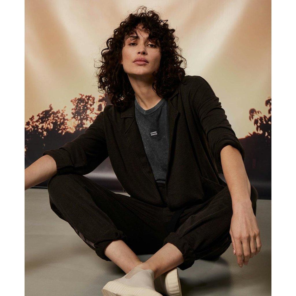 10Days Soft Black blazer linen 20-507-1202