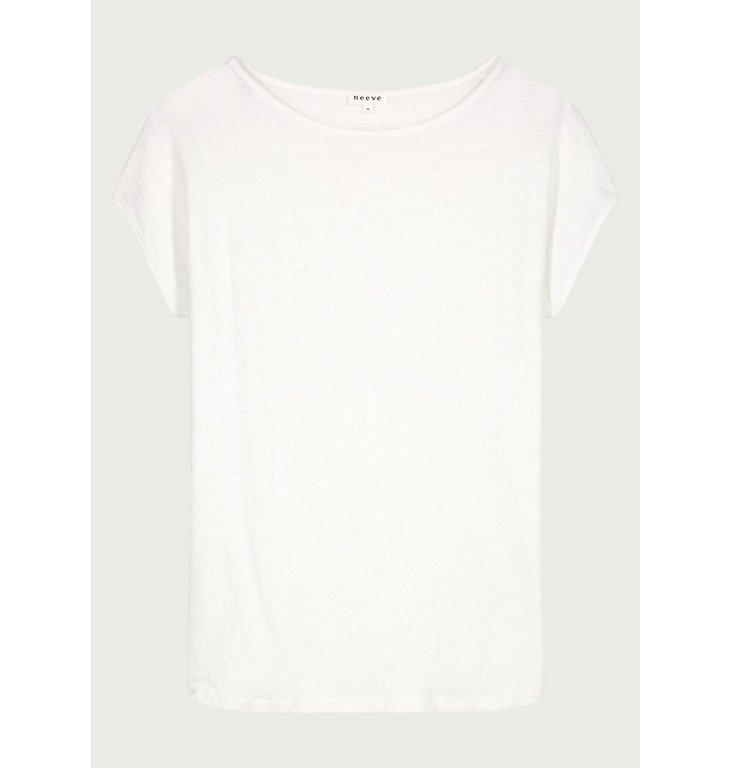 Neeve Neeve Crispy white T-shirt The linnen Top