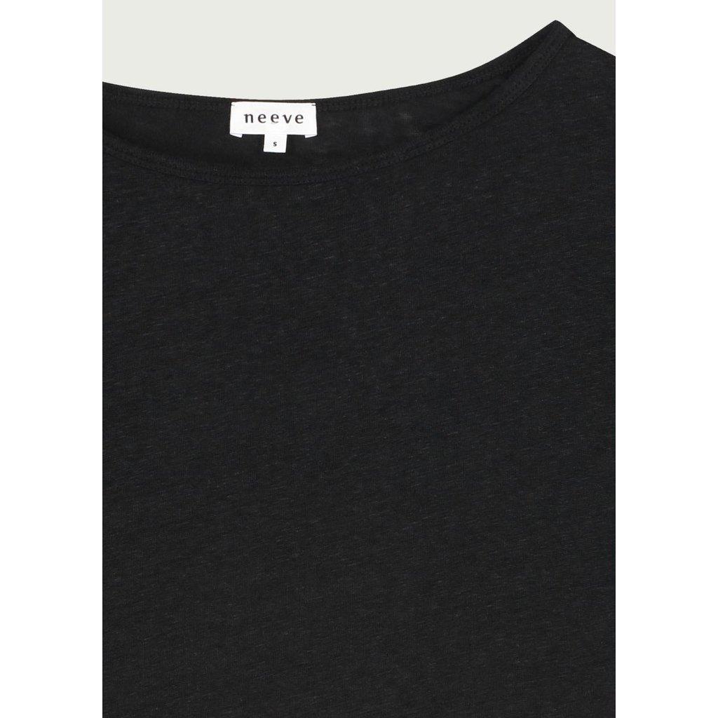 Neeve Black T-shirt The linnen Top