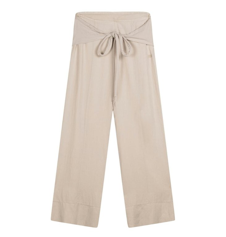 10Days 10Days White Sand belted wide pants 20-046-1201
