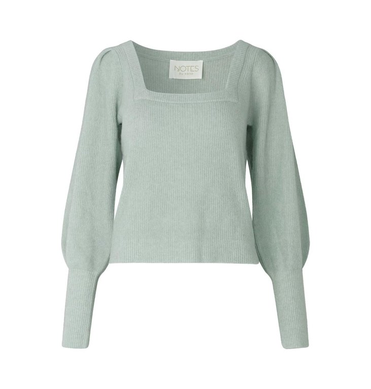 Notes du Nord Notes du Nord Mint Green Tori Blouse 12192