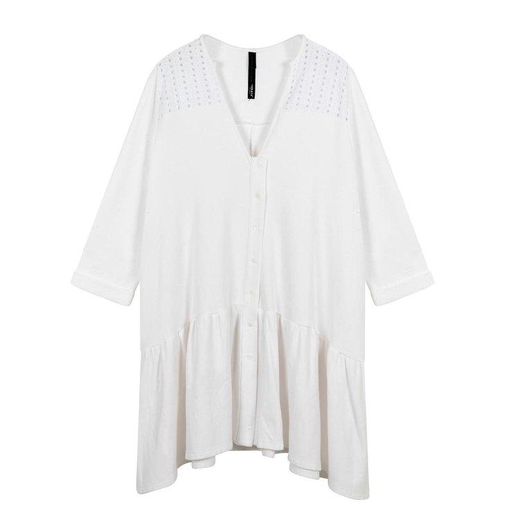 10Days 10Days White tunic broderie 20-308-1202