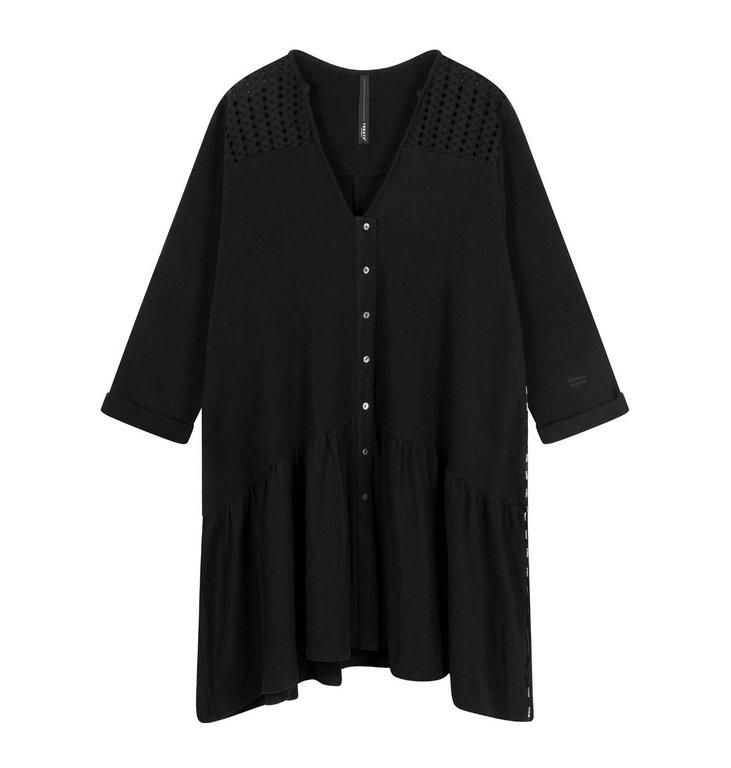 10Days 10Days Black tunic broderie 20-308-1202