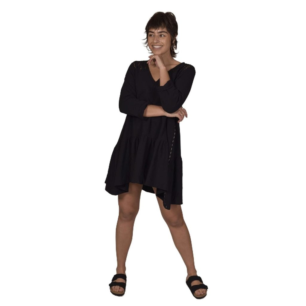 10Days Black tunic broderie 20-308-1202