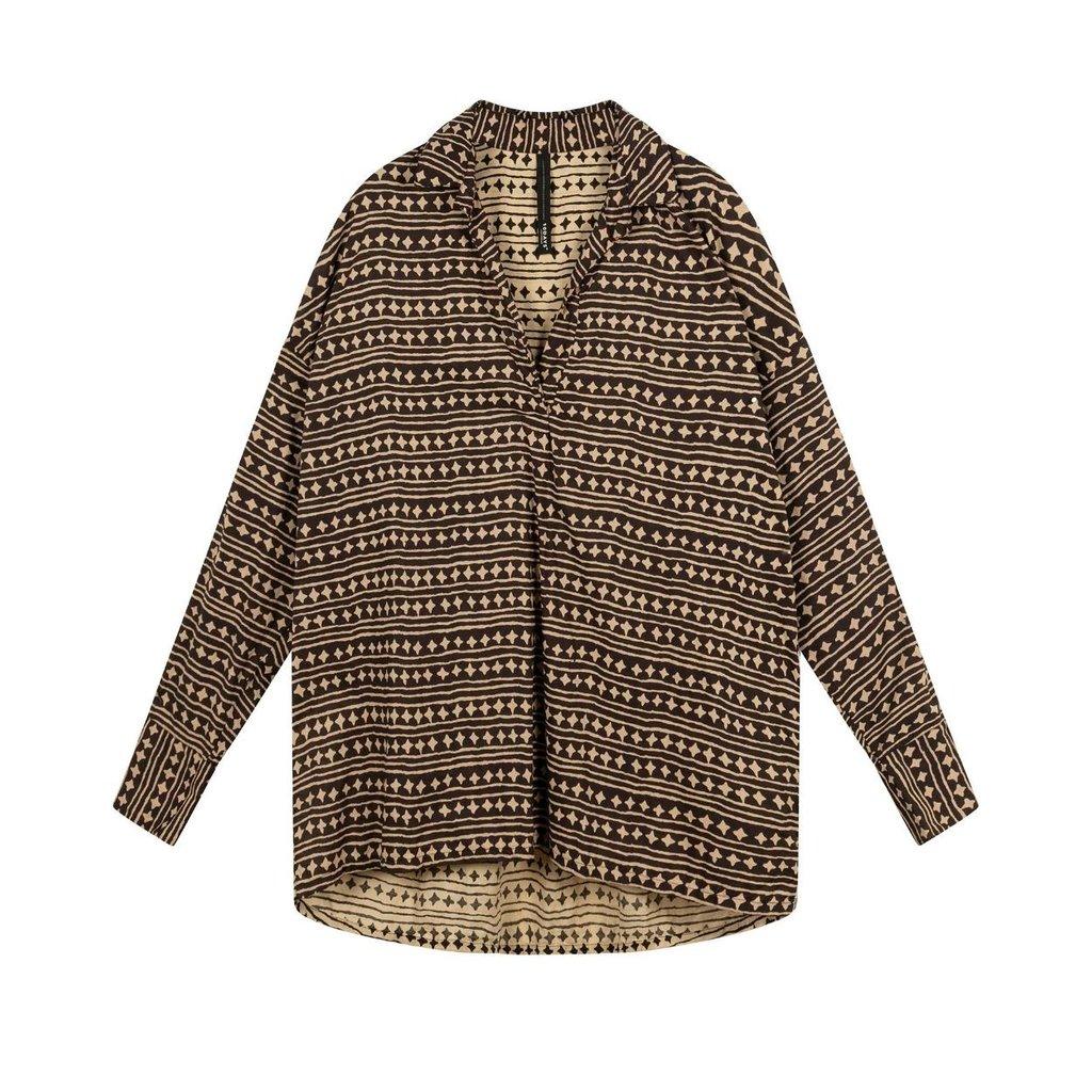 10Days Soft Black beach blouse stars 20-401-1202