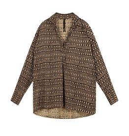 10Days 10Days Soft Black beach blouse stars 20-401-1202