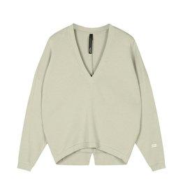 10Days 10Days Pistache v-neck sweater 20-805-1202
