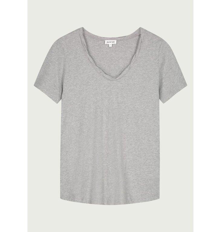 Neeve Neeve Grey melange T-shirt The V-neck