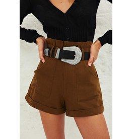 Ba&sh Ba&sh Kaki Shorts Luce Short