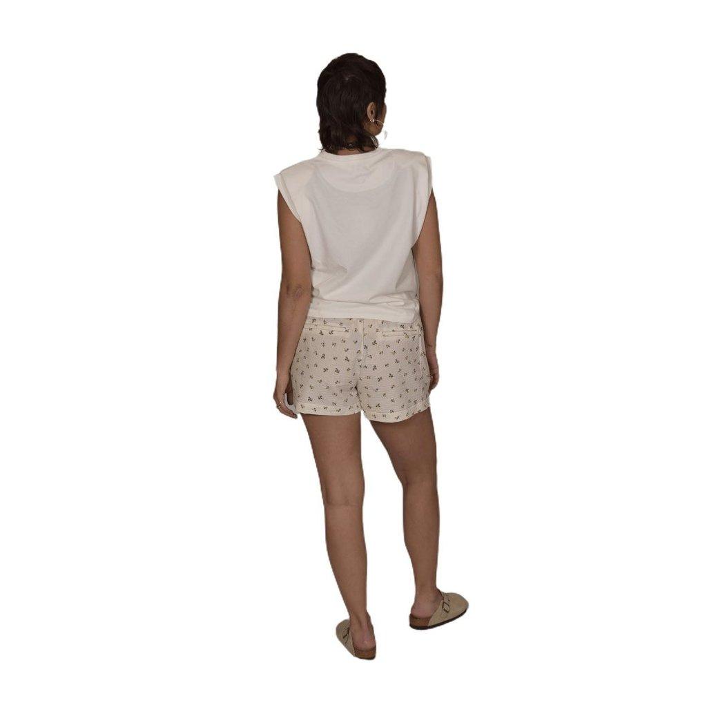 Second Female Bright White Minsk Short 54793